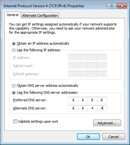 Change DNS Settings